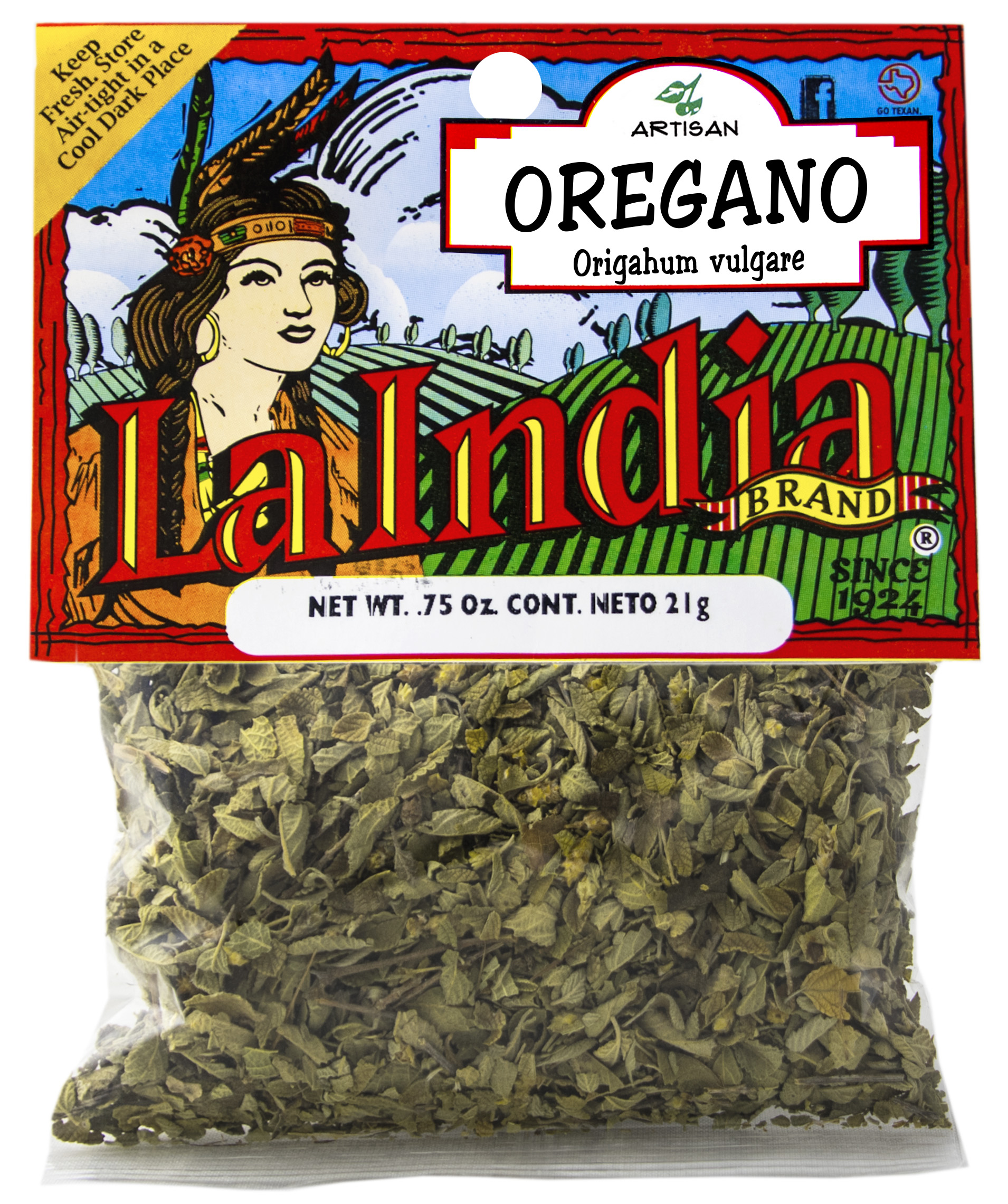 Oregano Cello Bags 0.25oz (Unit)