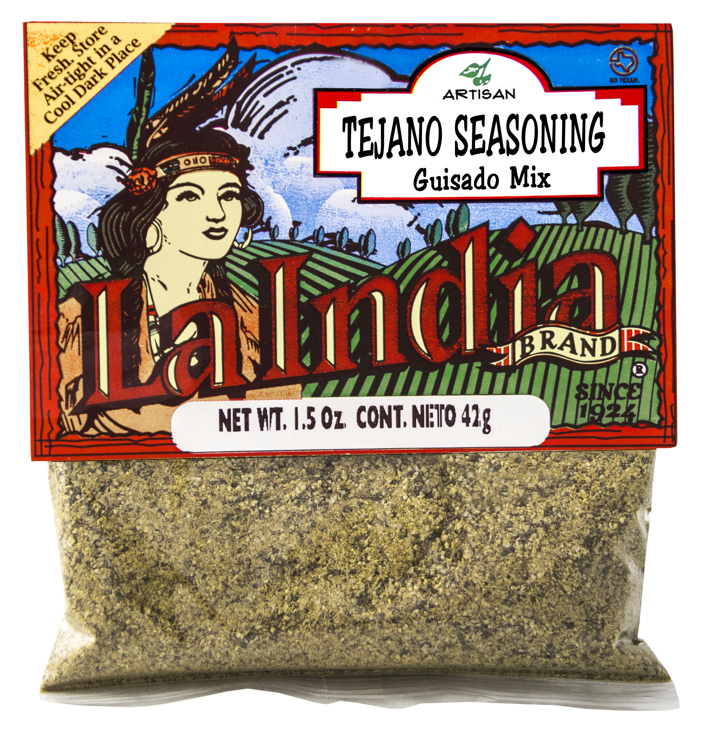 Tejano Seasoning cello bags (Unit)